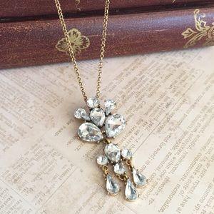 J. Crew Crystal Chandelier Pendant Necklace